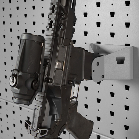 Vertical Rifle Wall Mount High Strength Rifle Storage Mag Release Lock